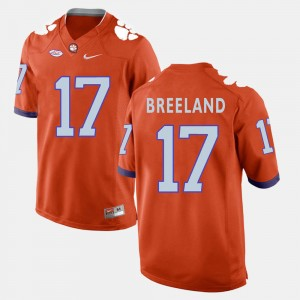 #17 Bashaud Breeland Clemson Tigers Men's College Football Jersey - Orange