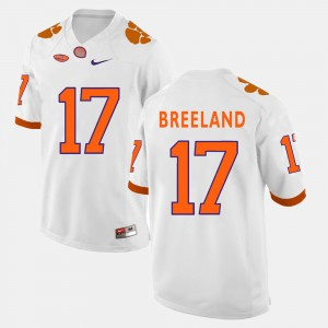 #17 Bashaud Breeland Clemson Tigers Mens College Football Jersey - White