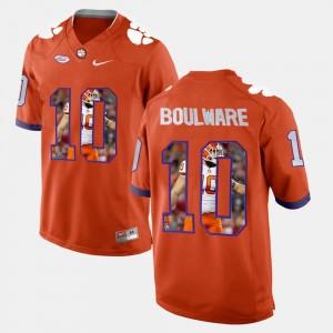 #10 Ben Boulware Clemson Tigers Men Player Pictorial Jersey - Orange