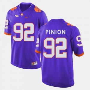 #92 Bradley Pinion Clemson Tigers College Football Men Jersey - Purple