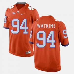 #94 Carlos Watkins Clemson Tigers Mens College Football Jersey - Orange