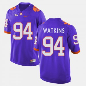 #94 Carlos Watkins Clemson Tigers For Men College Football Jersey - Purple