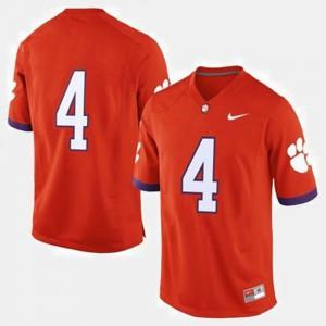 #4 Clemson Tigers College Football For Men Jersey - Orange