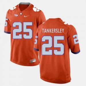 #25 Cordrea Tankersley Clemson Tigers Men College Football Jersey - Orange