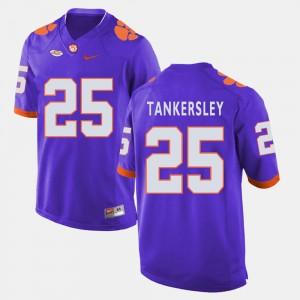 #25 Cordrea Tankersley Clemson Tigers College Football Men Jersey - Purple