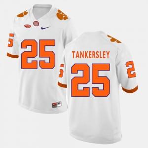 #25 Cordrea Tankersley Clemson Tigers College Football Men Jersey - White