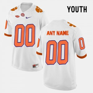 #00 Clemson Tigers College Limited Football For Kids Customized Jerseys - White