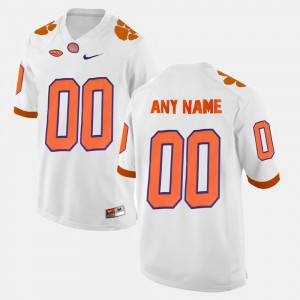 #00 Clemson Tigers College Limited Football Mens Customized Jersey - White