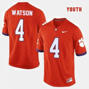 #4 Deshaun Watson Clemson Tigers Youth College Football Jersey - Orange