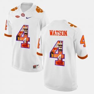 #4 DeShaun Watson Clemson Tigers Mens Pictorial Fashion Jersey - White