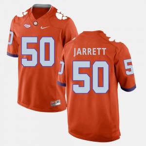 #50 Grady Jarrett Clemson Tigers For Men College Football Jersey - Orange