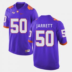 #50 Grady Jarrett Clemson Tigers College Football Men Jersey - Purple
