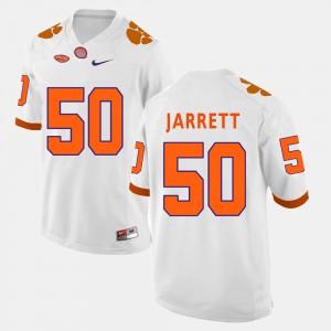 #50 Grady Jarrett Clemson Tigers College Football Men's Jersey - White