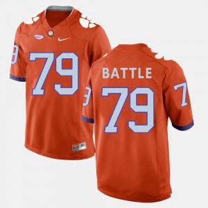 #79 Isaiah Battle Clemson Tigers Men College Football Jersey - Orange