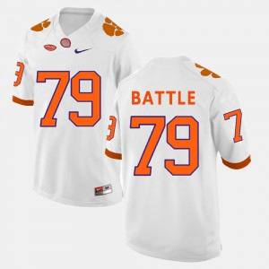 #79 Isaiah Battle Clemson Tigers For Men's College Football Jersey - White