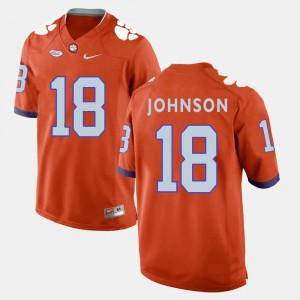 #18 Jadar Johnson Clemson Tigers College Football For Men's Jersey - Orange