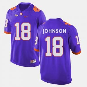 #18 Jadar Johnson Clemson Tigers College Football For Men Jersey - Purple