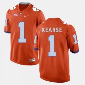 #1 Jayron Kearse Clemson Tigers For Men's College Football Jersey - Orange