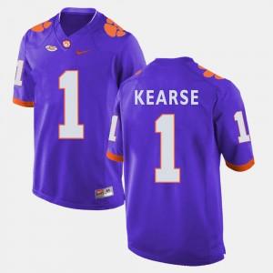 #1 Jayron Kearse Clemson Tigers For Men's College Football Jersey - Purple