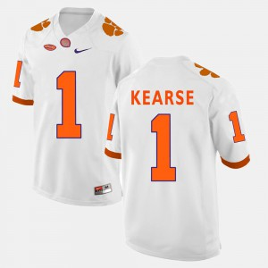 #1 Jayron Kearse Clemson Tigers Men's College Football Jersey - White