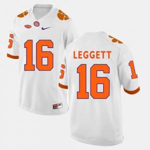 #16 Jordan Leggett Clemson Tigers Mens College Football Jersey - White