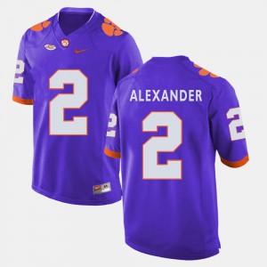 #2 Mackensie Alexander Clemson Tigers College Football For Men Jersey - Purple