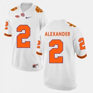 #2 Mackensie Alexander Clemson Tigers College Football For Men Jersey - White