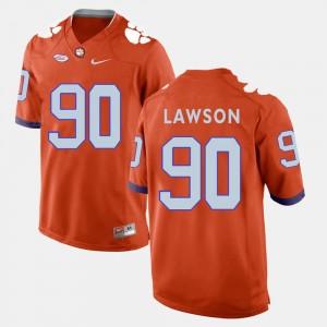 #90 Shaq Lawson Clemson Tigers College Football Men's Jersey - Orange