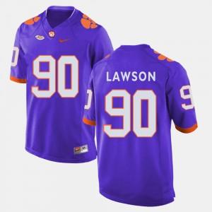 #90 Shaq Lawson Clemson Tigers College Football Men's Jersey - Purple