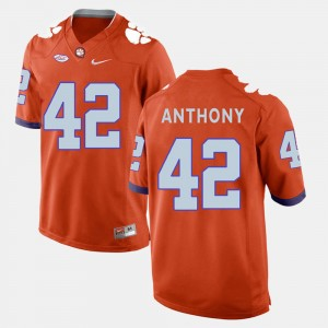 #42 Stephone Anthony Clemson Tigers College Football For Men Jersey - Orange