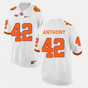 #42 Stephone Anthony Clemson Tigers Men College Football Jersey - White