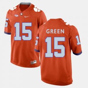 #15 T.J. Green Clemson Tigers College Football For Men Jersey - Orange