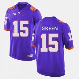 #15 T.J. Green Clemson Tigers Men College Football Jersey - Purple