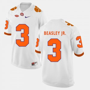 #3 Vic Beasley Jr. Clemson Tigers Mens College Football Jersey - White