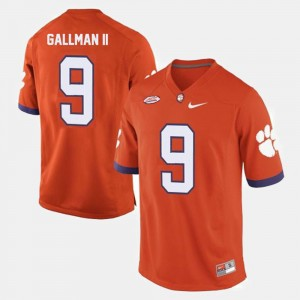 #9 Wayne Gallman II Clemson Tigers College Football Men's Jersey - Orange