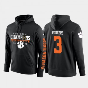 #3 Amari Rodgers Clemson Tigers College Football Pullover 2018 National Champions Men Hoodie - Black