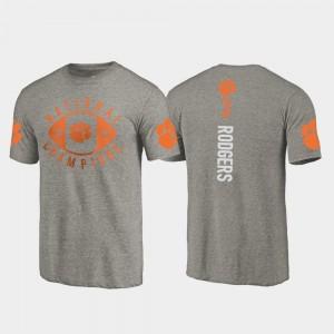 #3 Amari Rodgers Clemson Tigers 2018 National Champions College Football Playoff Men T-Shirt - Gray