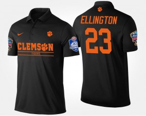 #23 Andre Ellington Clemson Tigers Bowl Game For Men's Atlantic Coast Conference Sugar Bowl Polo - Black
