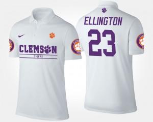 #23 Andre Ellington Clemson Tigers Men's Polo - White