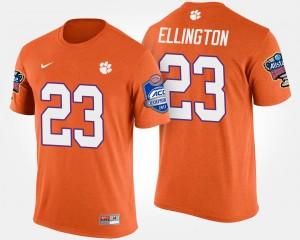 #23 Andre Ellington Clemson Tigers Bowl Game Atlantic Coast Conference Sugar Bowl For Men T-Shirt - Orange