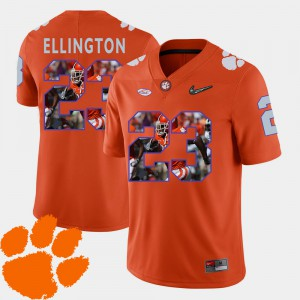 #23 Andre Ellington Clemson Tigers Football Pictorial Fashion Men's Jersey - Orange