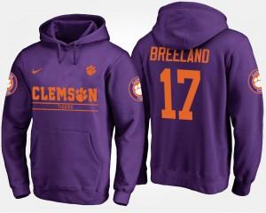 #17 Bashaud Breeland Clemson Tigers Mens Hoodie - Purple