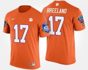 #17 Bashaud Breeland Clemson Tigers Mens Bowl Game Atlantic Coast Conference Sugar Bowl T-Shirt - Orange