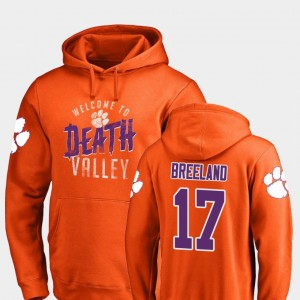 #17 Bashaud Breeland Clemson Tigers Hometown Collection Logo For Men Hoodie - Orange