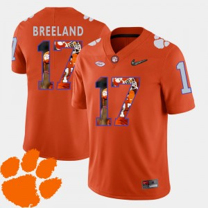 #17 Bashaud Breeland Clemson Tigers Pictorial Fashion Mens Football Jersey - Orange