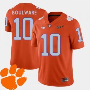 #10 Ben Boulware Clemson Tigers For Men's 2018 ACC College Football Jersey - Orange