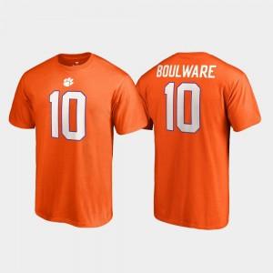 #10 Ben Boulware Clemson Tigers College Legends Men Name & Number T-Shirt - Orange