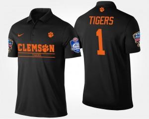 #1 Clemson Tigers For Men Bowl Game No.1 Atlantic Coast Conference Sugar Bowl Polo - Black