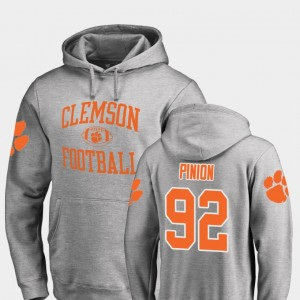 #92 Bradley Pinion Clemson Tigers College Football Neutral Zone For Men's Hoodie - Ash