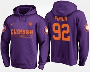 #92 Bradley Pinion Clemson Tigers Men Hoodie - Purple